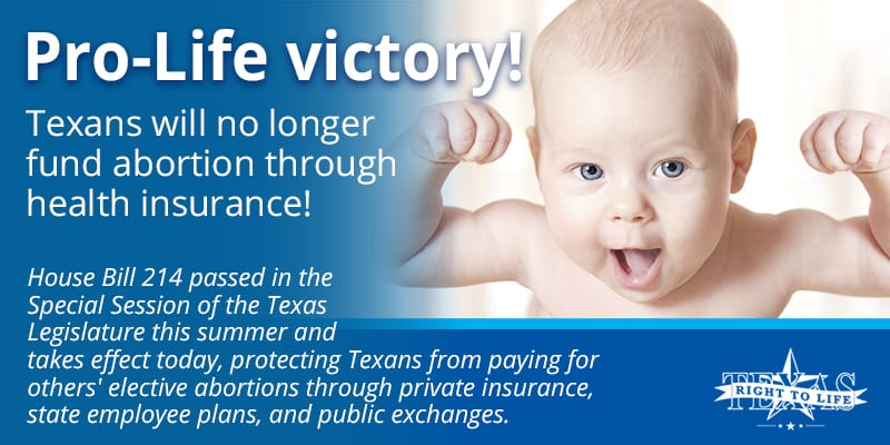 Texas Pro-Life Health Insurance Reform takes effect ...