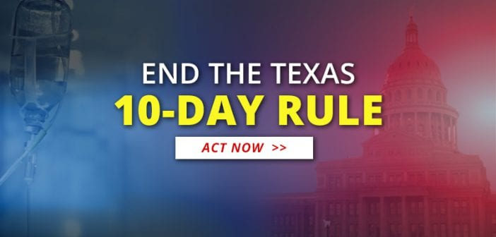 End the 10-Day Rule! Ask Your State Senator to Support SB 917